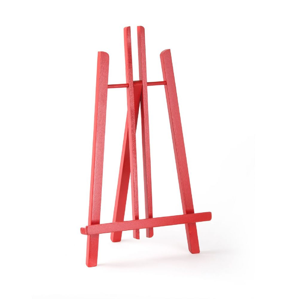 "Red Colour Easel Kent 20"" - Beech Wood"